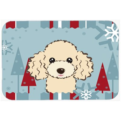 Poodle Kitchen/Bath Mat Size: 24 W x 36 L, Color: Buff