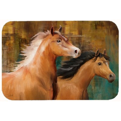 Horse Duo Kitchen/Bath Mat Size: 24 W x 36 L