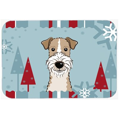 Wire Haired Fox Terrier Kitchen/Bath Mat Size: 20
