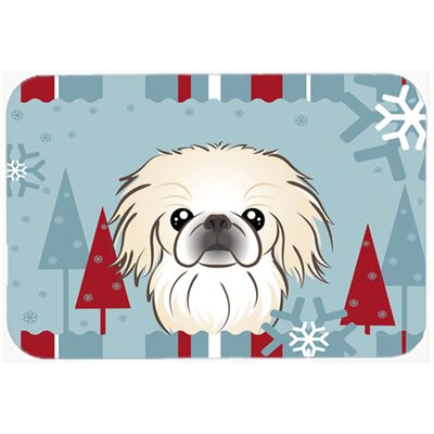 Pekingese Kitchen/Bath Mat Size: 24 W x 36 L