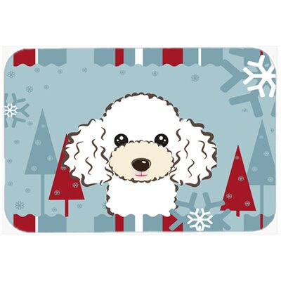 Poodle Kitchen/Bath Mat Size: 24 W x 36 L, Color: White