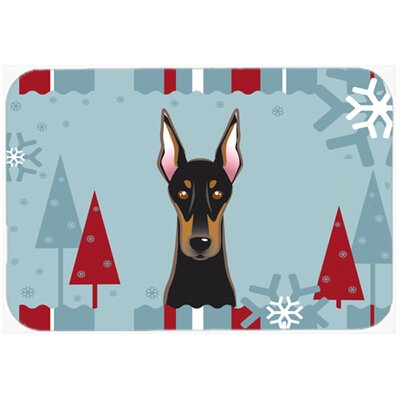 Doberman Kitchen/Bath Mat Size: 20
