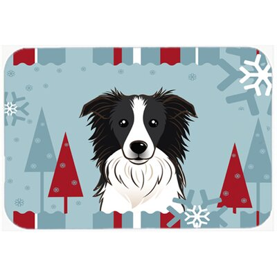 Border Collie Kitchen/Bath Mat Size: 24