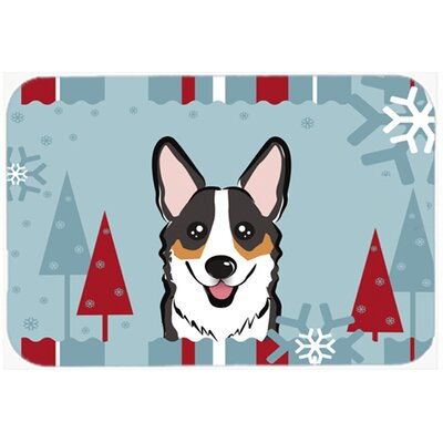 Corgi Kitchen/Bath Mat Size: 24 W x 36 L, Color: Black/Gray/Tan