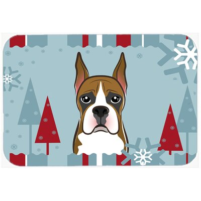 Winter Holiday Boxer Kitchen/Bath Mat Size: 24 W x 36 L