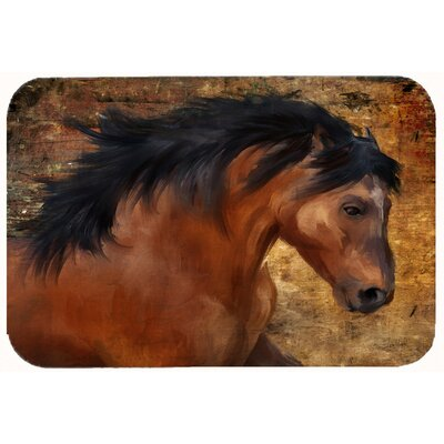 Wild Horse Kitchen/Bath Mat Size: 24 W x 36 L