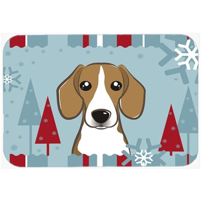 Beagle Kitchen/Bath Mat Size: 24 W x 36 L