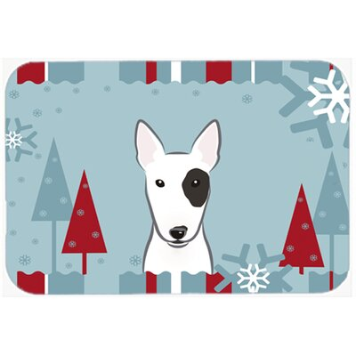 Bull Terrier Kitchen/Bath Mat Size: 24