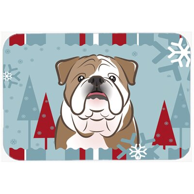 English Bulldog Kitchen/Bath Mat Size: 24 W x 36 L, Color: Brown