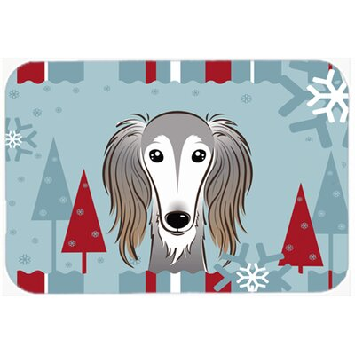 Saluki Kitchen/Bath Mat Size: 24 W x 36 L