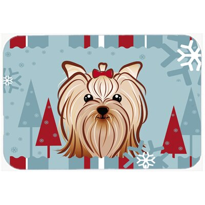 Yorkie Yorkshire Terrier Kitchen/Bath Mat Size: 24 W x 36 L