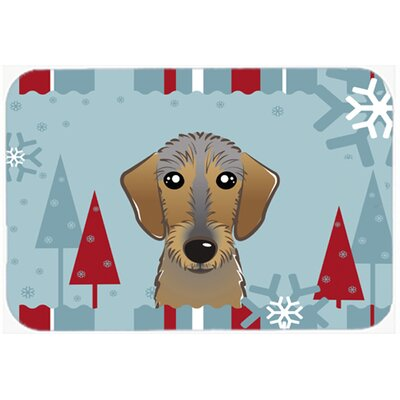 Wirehaired Dachshund Kitchen/Bath Mat Size: 24 W x 36 L
