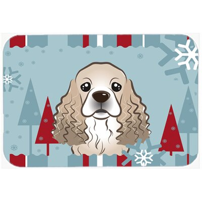 Cocker Spaniel Kitchen/Bath Mat Size: 24 W x 36 L