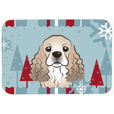 Cocker Spaniel Kitchen/Bath Mat Size: 20 W x 30 L