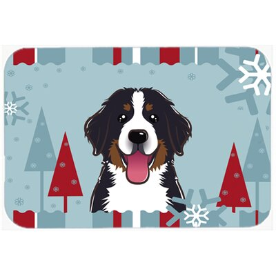 Bernese Mountain Dog Kitchen/Bath Mat Size: 20 W x 30 L