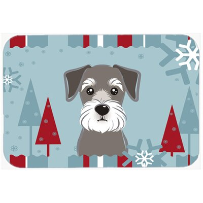 Winter Holiday Schnauzer Kitchen/Bath Mat Size: 20 W x 30 L