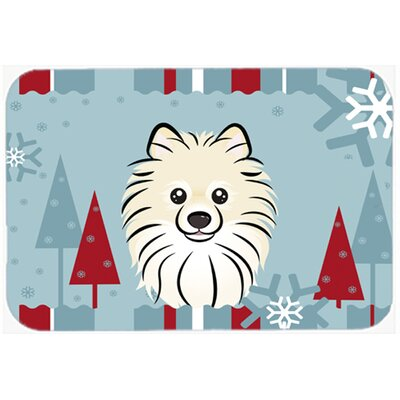 Pomeranian Kitchen/Bath Mat Size: 24 W x 36 L