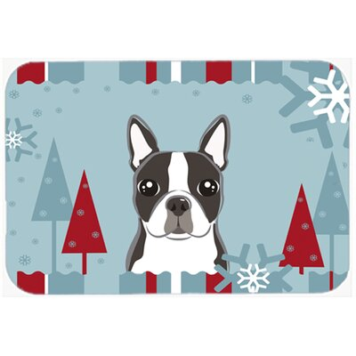 Boston Terrier Kitchen/Bath Mat Size: 24 W x 36 L