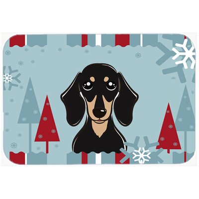 Smooth Dachshund Kitchen/Bath Mat Size: 24 W x 36 L