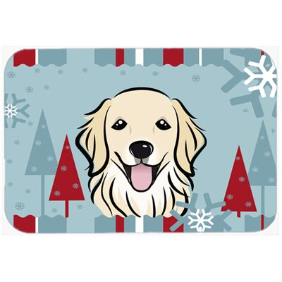 Winter Holiday Retriever Kitchen/Bath Mat Size: 20 W x 30 L