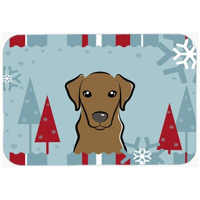 Labrador Kitchen/Bath Mat Size: 24 W x 36 L, Color: Chocolate