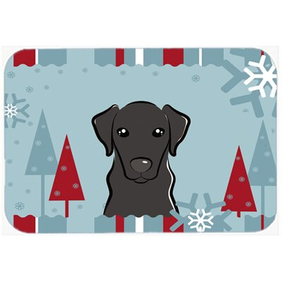 Labrador Kitchen/Bath Mat Size: 20 W x 30 L, Color: Black