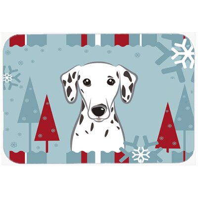 Winter Holiday Dalmatian Kitchen/Bath Mat Size: 24 W x 36 L
