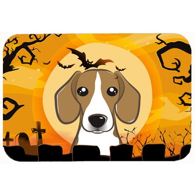 Halloween Beagle Kitchen/Bath Mat Size: 24 W x 36 L