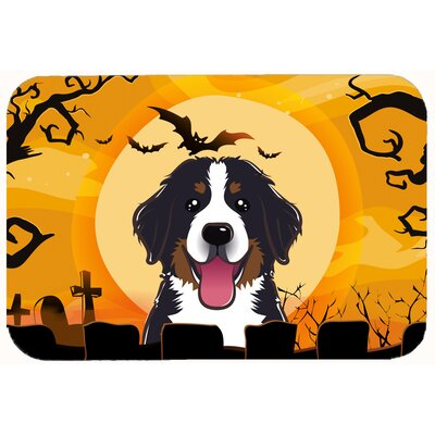 Halloween Bernese Mountain Dog Kitchen/Bath Mat Size: 20 W x 30 L