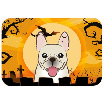 Halloween French Bulldog Kitchen/Bath Mat Size: 20 W x 30 L