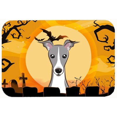Halloween Italian Greyhound Kitchen/Bath Mat Size: 24 W x 36 L