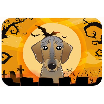 Halloween Wirehaired Dachshund Kitchen/Bath Mat Size: 24 W x 36 L