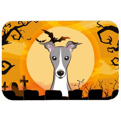 Halloween Italian Greyhound Kitchen/Bath Mat Size: 20 W x 30 L