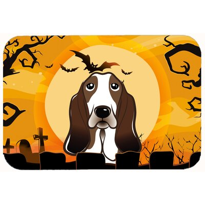Halloween Basset Hound Kitchen/Bath Mat Size: 20 W x 30 L