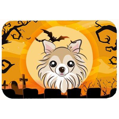 Halloween Chihuahua Kitchen/Bath Mat Size: 24 W x 36 L