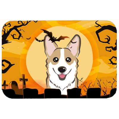 Halloween Corgi Kitchen/Bath Mat Size: 20 W x 30 L, Color: Sable