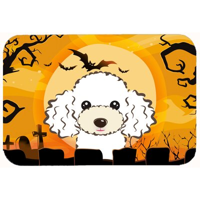 Halloween Poodle Kitchen/Bath Mat Size: 20 W x 30 L, Color: White