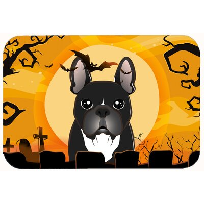 Halloween French Bulldog Kitchen/Bath Mat Size: 24 W x 36 L