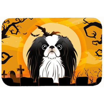 Halloween Japanese Chin Kitchen/Bath Mat Size: 24 W x 36 L
