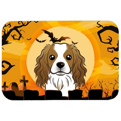Halloween Cavalier Spaniel Kitchen/Bath Mat Size: 24 W x 36 L