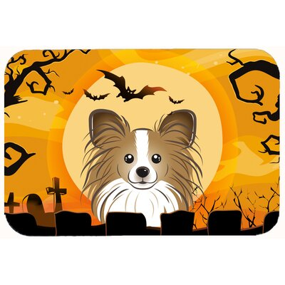 Halloween Papillon Kitchen/Bath Mat Size: 24 W x 36 L