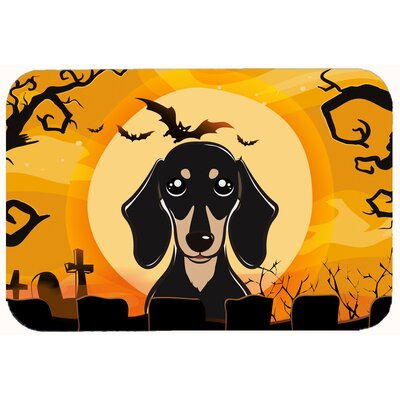 Halloween Smooth Dachshund Kitchen/Bath Mat Size: 20 W x 30 L