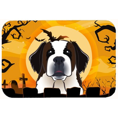 Halloween Saint Bernard Kitchen/Bath Mat Size: 24 W x 36 L