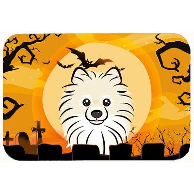 Halloween Pomeranian Kitchen/Bath Mat Size: 24 W x 36 L