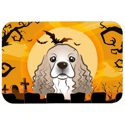 Halloween Cocker Spaniel Kitchen/Bath Mat Size: 24 W x 36 L