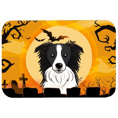 Halloween Border Collie Kitchen/Bath Mat Size: 24 W x 36 L