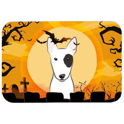 Halloween Bull Terrier Kitchen/Bath Mat Size: 20 W x 30 L
