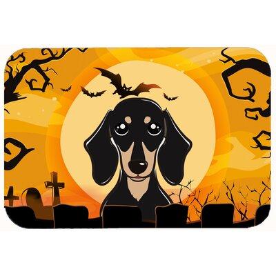 Halloween Smooth Dachshund Kitchen/Bath Mat Size: 24 W x 36 L