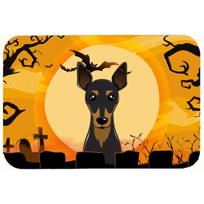 Halloween Min Pin Kitchen/Bath Mat Size: 24 W x 36 L