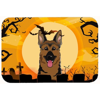 Halloween German Shepherd Kitchen/Bath Mat Size: 24 W x 36 L